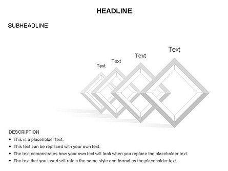 Rhombus Diagram Collection, Slide 5, 03435, Business Models — PoweredTemplate.com