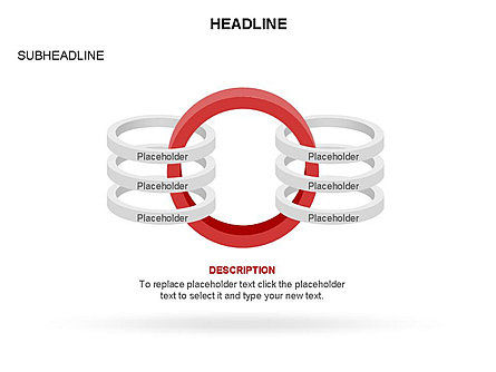 Rings and Chains Diagram, Slide 15, 03436, Stage Diagrams — PoweredTemplate.com