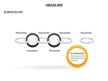 Rings and Chains Diagram, Slide 16, 03436, Stage Diagrams — PoweredTemplate.com