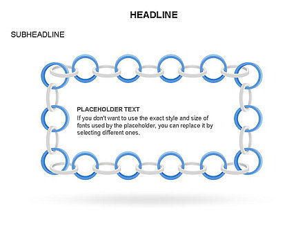 Rings and Chains Diagram, Slide 18, 03436, Stage Diagrams — PoweredTemplate.com