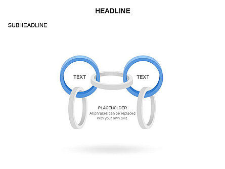 Rings and Chains Diagram, Slide 19, 03436, Stage Diagrams — PoweredTemplate.com
