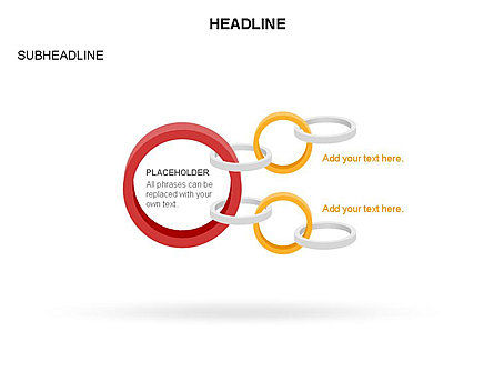 Rings and Chains Diagram, Slide 20, 03436, Stage Diagrams — PoweredTemplate.com