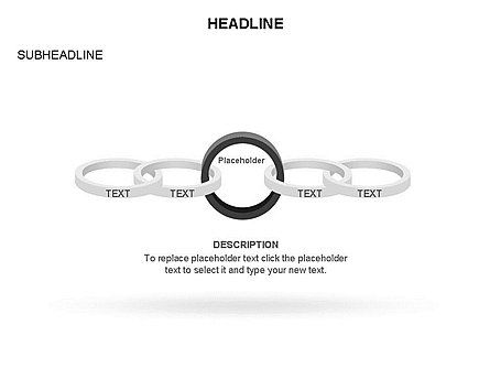 Rings and Chains Diagram, Slide 21, 03436, Stage Diagrams — PoweredTemplate.com