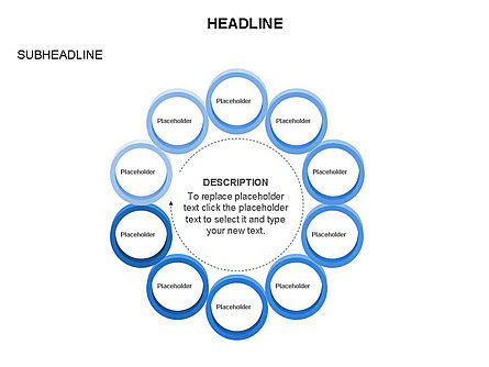 Rings and Chains Diagram, Slide 25, 03436, Stage Diagrams — PoweredTemplate.com