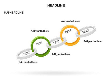 Rings and Chains Diagram, Slide 6, 03436, Stage Diagrams — PoweredTemplate.com