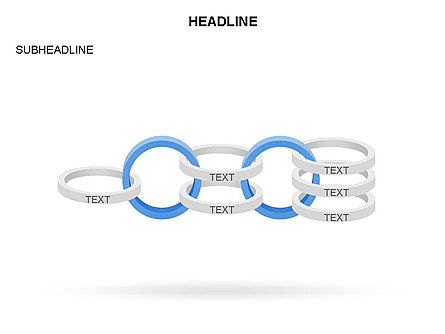 Rings and Chains Diagram, Slide 8, 03436, Stage Diagrams — PoweredTemplate.com