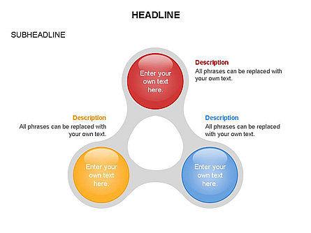 Linked Circles Diagram Collection, Slide 10, 03438, Organizational Charts — PoweredTemplate.com