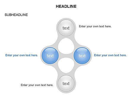 Linked Circles Diagram Collection, Slide 11, 03438, Organizational Charts — PoweredTemplate.com