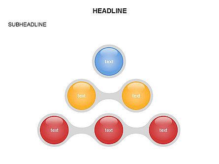Linked Circles Diagram Collection, Slide 12, 03438, Organizational Charts — PoweredTemplate.com