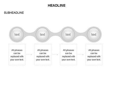 Linked Circles Diagram Collection, Slide 13, 03438, Organizational Charts — PoweredTemplate.com