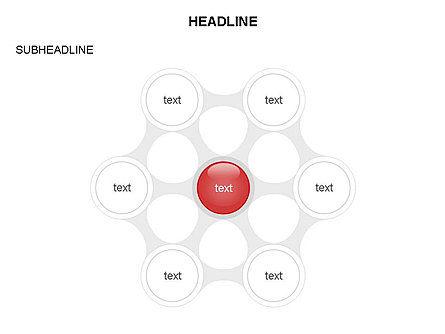 Linked Circles Diagram Collection, Slide 14, 03438, Organizational Charts — PoweredTemplate.com