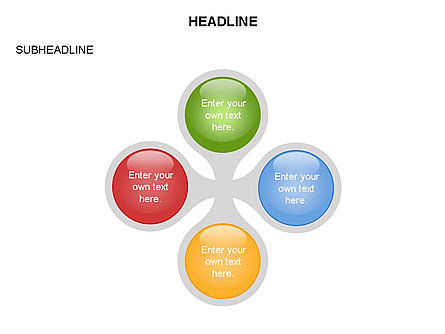 Linked Circles Diagram Collection, Slide 15, 03438, Organizational Charts — PoweredTemplate.com