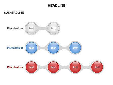 Linked Circles Diagram Collection, Slide 16, 03438, Organizational Charts — PoweredTemplate.com