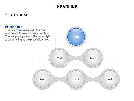 Linked Circles Diagram Collection, Slide 17, 03438, Organizational Charts — PoweredTemplate.com