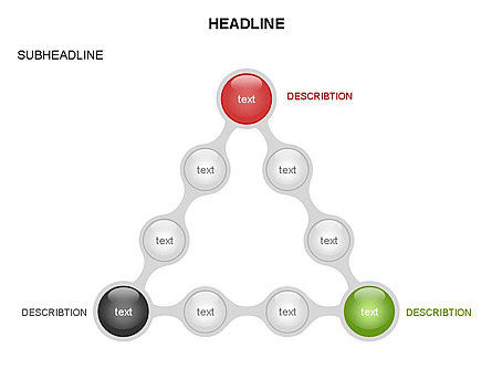 Linked Circles Diagram Collection, Slide 18, 03438, Organizational Charts — PoweredTemplate.com