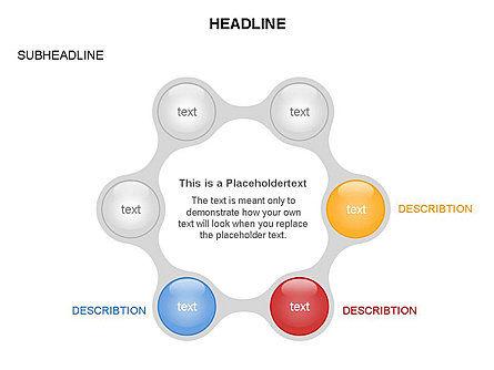 Linked Circles Diagram Collection, Slide 19, 03438, Organizational Charts — PoweredTemplate.com