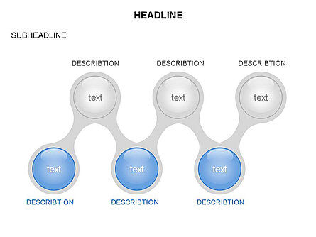 Linked Circles Diagram Collection, Slide 20, 03438, Organizational Charts — PoweredTemplate.com