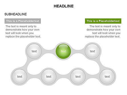 Linked Circles Diagram Collection, Slide 21, 03438, Organizational Charts — PoweredTemplate.com