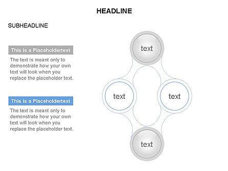 Linked Circles Diagram Collection, Slide 22, 03438, Organizational Charts — PoweredTemplate.com