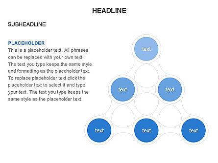 Linked Circles Diagram Collection, Slide 23, 03438, Organizational Charts — PoweredTemplate.com