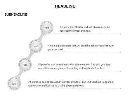 Linked Circles Diagram Collection, Slide 24, 03438, Organizational Charts — PoweredTemplate.com