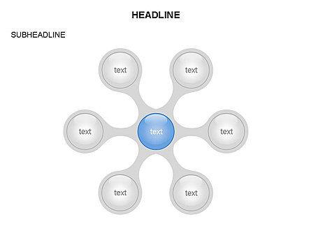 Linked Circles Diagram Collection, Slide 25, 03438, Organizational Charts — PoweredTemplate.com