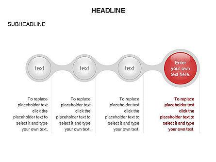Linked Circles Diagram Collection, Slide 26, 03438, Organizational Charts — PoweredTemplate.com