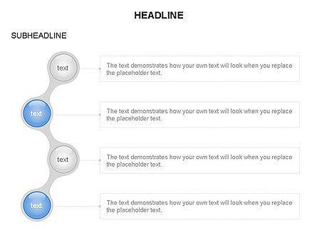 Linked Circles Diagram Collection, Slide 27, 03438, Organizational Charts — PoweredTemplate.com