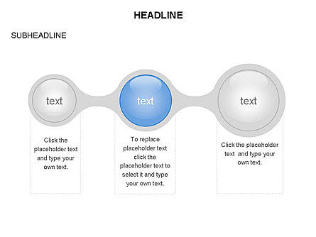 Linked Circles Diagram Collection, Slide 28, 03438, Organizational Charts — PoweredTemplate.com