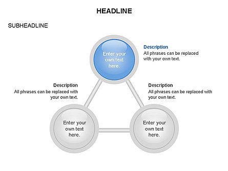 Linked Circles Diagram Collection, Slide 29, 03438, Organizational Charts — PoweredTemplate.com