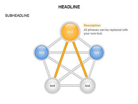 Linked Circles Diagram Collection, Slide 30, 03438, Organizational Charts — PoweredTemplate.com