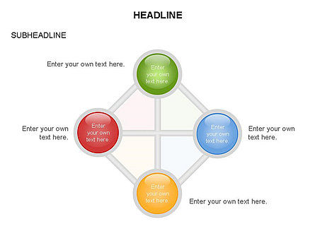 Linked Circles Diagram Collection, Slide 32, 03438, Organizational Charts — PoweredTemplate.com