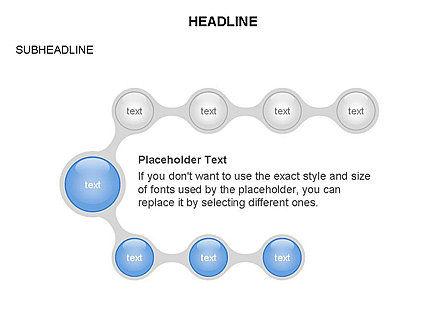 Linked Circles Diagram Collection, Slide 33, 03438, Organizational Charts — PoweredTemplate.com