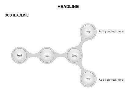 Linked Circles Diagram Collection, Slide 34, 03438, Organizational Charts — PoweredTemplate.com