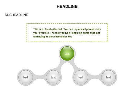 Linked Circles Diagram Collection, Slide 35, 03438, Organizational Charts — PoweredTemplate.com