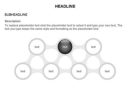 Linked Circles Diagram Collection, Slide 36, 03438, Organizational Charts — PoweredTemplate.com