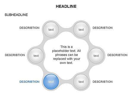 Linked Circles Diagram Collection, Slide 5, 03438, Organizational Charts — PoweredTemplate.com