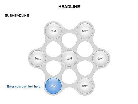 Linked Circles Diagram Collection, Slide 6, 03438, Organizational Charts — PoweredTemplate.com