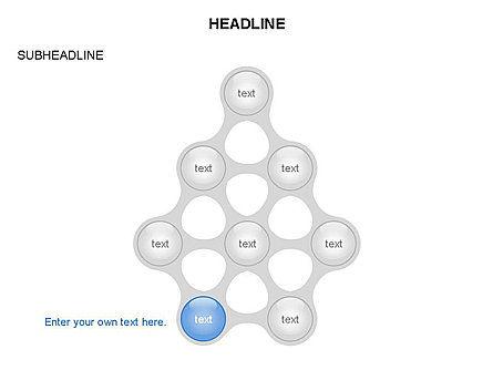 Linked Circles Diagram Collection, Slide 7, 03438, Organizational Charts — PoweredTemplate.com