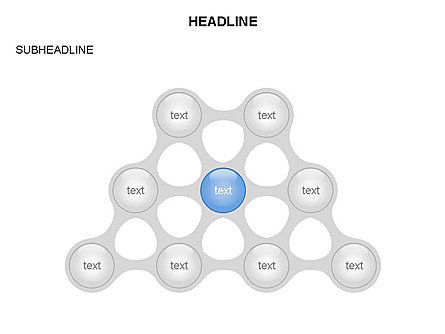 Linked Circles Diagram Collection, Slide 8, 03438, Organizational Charts — PoweredTemplate.com