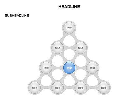 Linked Circles Diagram Collection, Slide 9, 03438, Organizational Charts — PoweredTemplate.com