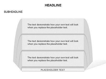 Stacked Text Boxes Collection, Slide 12, 03439, Text Boxes — PoweredTemplate.com