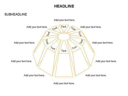 Dome Diagram, Slide 18, 03441, Shapes — PoweredTemplate.com