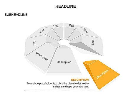 Cupola Diagram, Slide 12, 03442, Pie Charts — PoweredTemplate.com