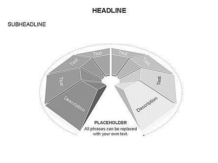 Cupola Diagram, Slide 15, 03442, Pie Charts — PoweredTemplate.com