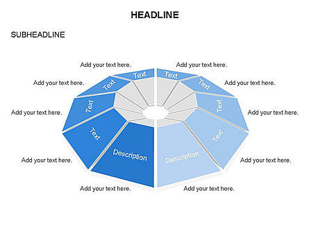 Cupola Diagram, Slide 24, 03442, Pie Charts — PoweredTemplate.com