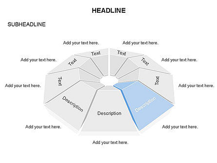 Cupola Diagram, Slide 6, 03442, Pie Charts — PoweredTemplate.com