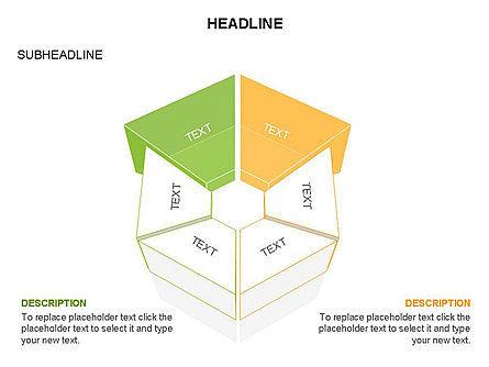 Sectors and Shapes, Slide 12, 03443, Pie Charts — PoweredTemplate.com