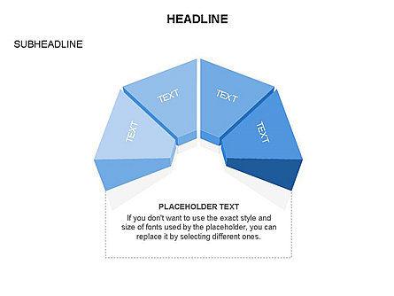 Sectors and Shapes, Slide 16, 03443, Pie Charts — PoweredTemplate.com
