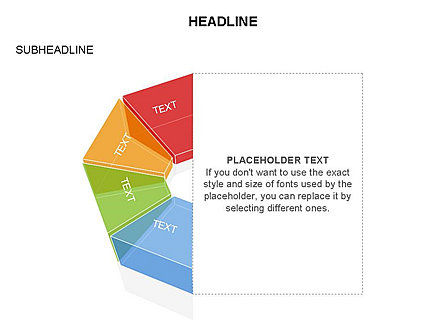 Sectors and Shapes, Slide 18, 03443, Pie Charts — PoweredTemplate.com